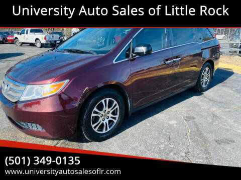 2012 Honda Odyssey for sale at University Auto Sales of Little Rock in Little Rock AR