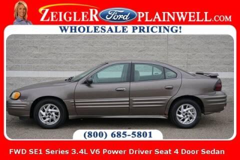 2002 Pontiac Grand Am for sale at Zeigler Ford of Plainwell- michael davis in Plainwell MI