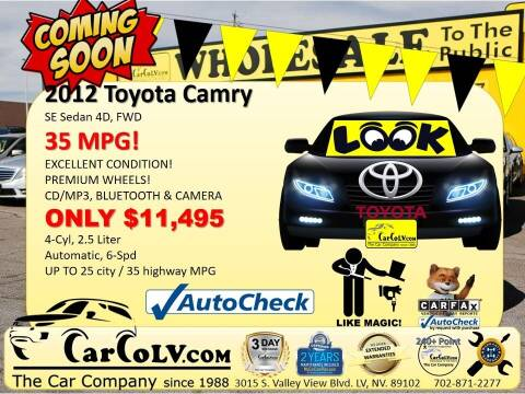 2012 Toyota Camry for sale at The Car Company in Las Vegas NV