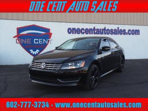 2014 Volkswagen Passat for sale at One Cent Auto Sales in Glendale AZ