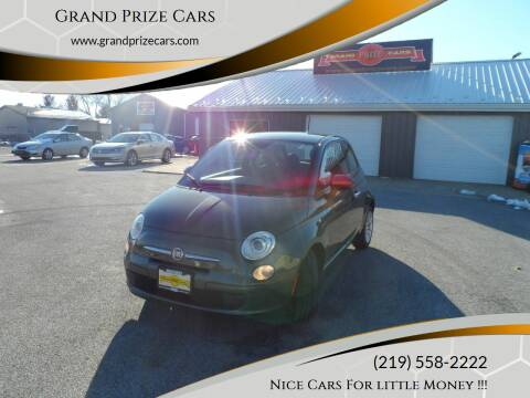 2015 FIAT 500 for sale at Grand Prize Cars in Cedar Lake IN