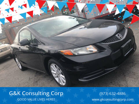 2012 Honda Civic for sale at G&K Consulting Corp in Fair Lawn NJ