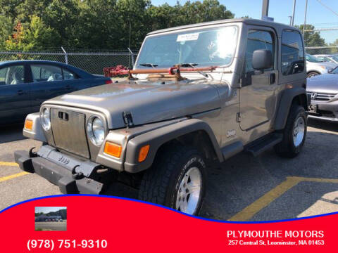 2005 Jeep Wrangler for sale at Plymouthe Motors in Leominster MA