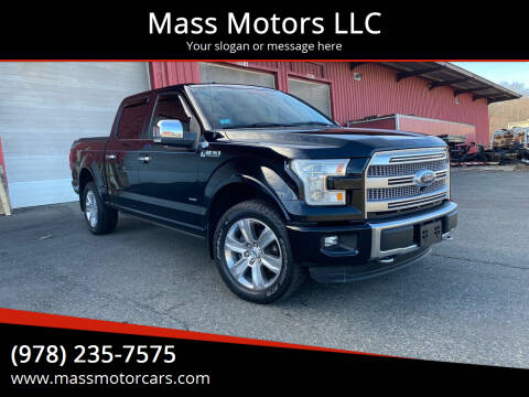 2016 Ford F-150 for sale at Mass Motors LLC in Worcester MA