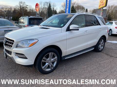 2015 Mercedes-Benz M-Class for sale at Sunrise Auto Sales in Stacy MN