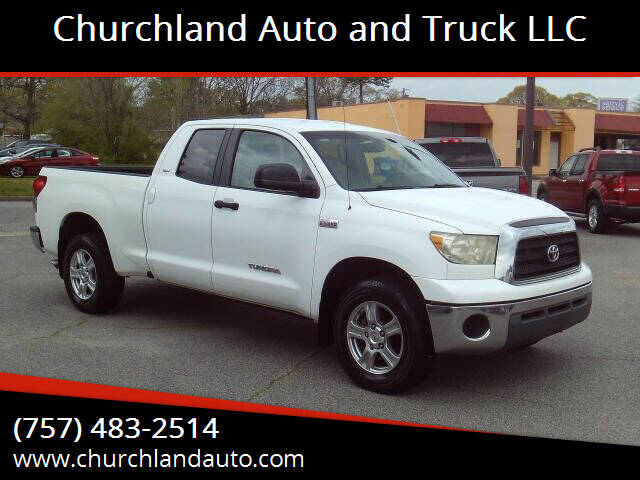 2007 Toyota Tundra for sale at Churchland Auto and Truck LLC in Portsmouth VA