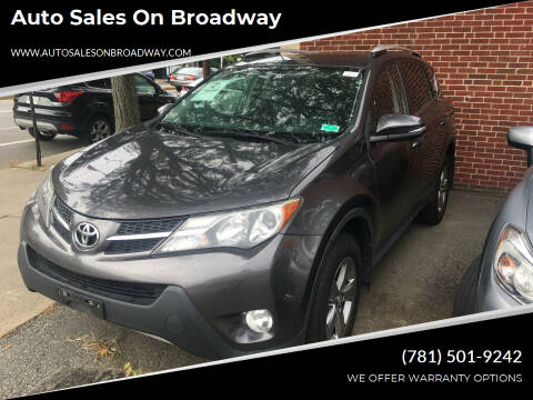 2015 Toyota RAV4 for sale at Auto Sales on Broadway in Norwood MA