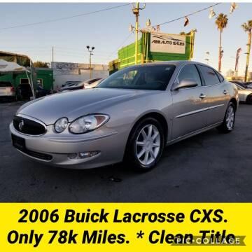 2006 Buick LaCrosse for sale at A2B AUTO SALES in Chula Vista CA