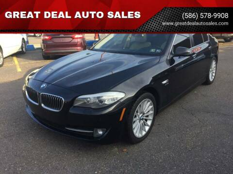 2012 BMW 5 Series for sale at GREAT DEAL AUTO SALES in Center Line MI