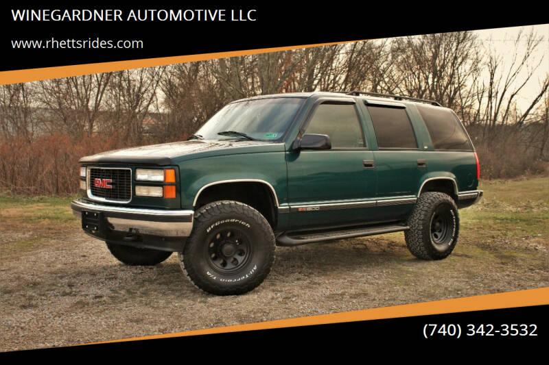 1997 GMC Yukon for sale at WINEGARDNER AUTOMOTIVE LLC in New Lexington OH