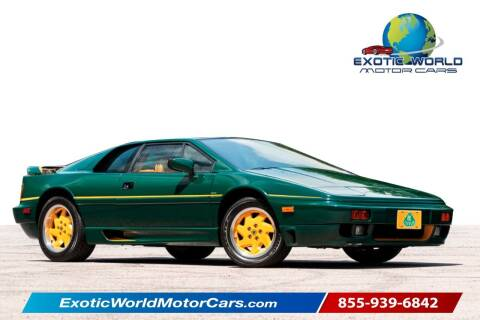 1991 Lotus Esprit for sale at Exotic World Motor Cars in Addison TX