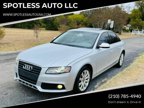 2011 Audi A4 for sale at SPOTLESS AUTO LLC in San Antonio TX