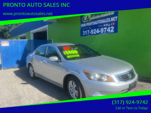 2009 Honda Accord for sale at PRONTO AUTO SALES INC in Indianapolis IN