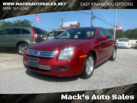 2007 Ford Fusion for sale at Mack's Auto Sales in Forest Park GA