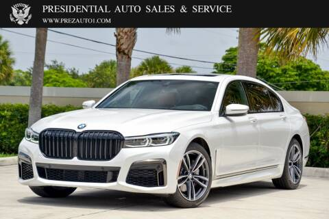 2021 BMW 7 Series for sale at Presidential Auto  Sales & Service in Delray Beach FL