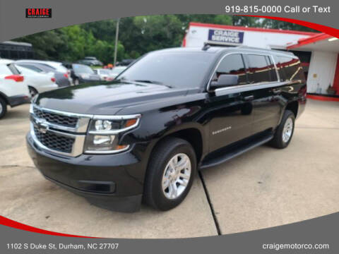 2018 Chevrolet Suburban for sale at CRAIGE MOTOR CO in Durham NC