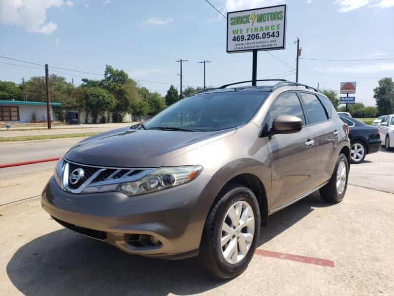 2013 Nissan Murano for sale at Shock Motors in Garland TX