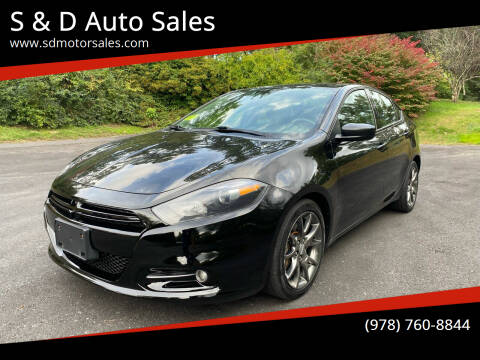 2013 Dodge Dart for sale at S & D Auto Sales in Maynard MA