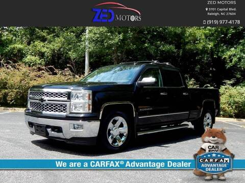 2014 Chevrolet Silverado 1500 for sale at Zed Motors in Raleigh NC