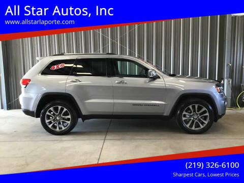 2018 Jeep Grand Cherokee for sale at All Star Autos, Inc in La Porte IN