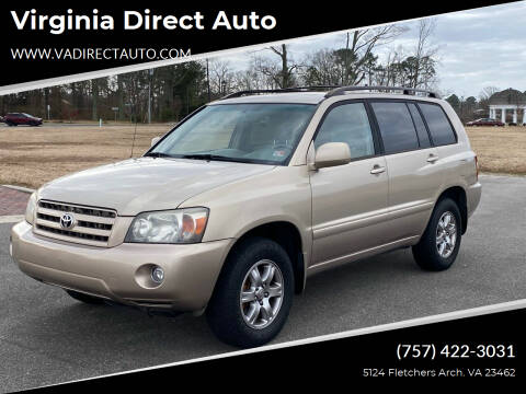 2006 Toyota Highlander for sale at Virginia Direct Auto in Virginia Beach VA