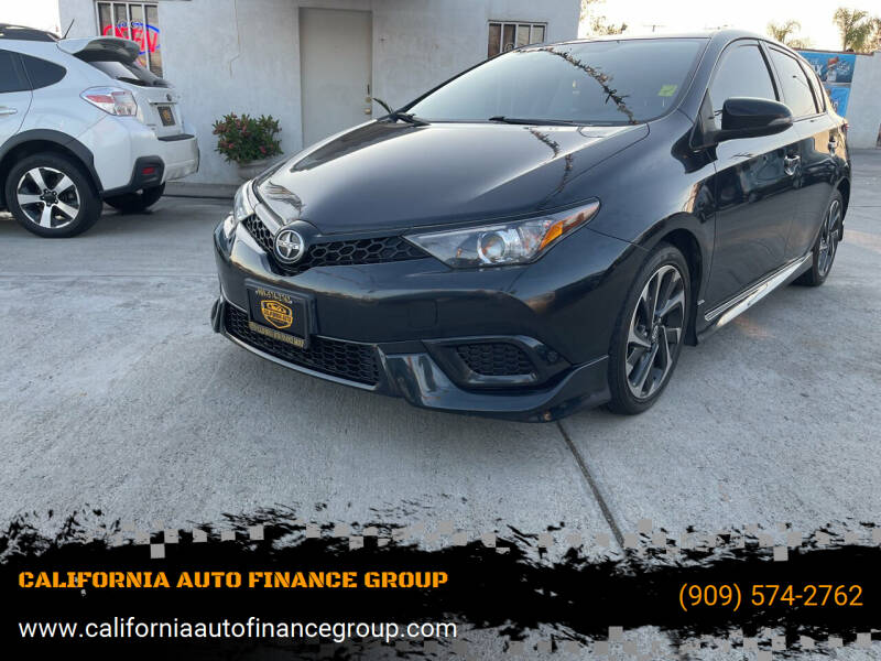 2016 Scion iM for sale at CALIFORNIA AUTO FINANCE GROUP in Fontana CA