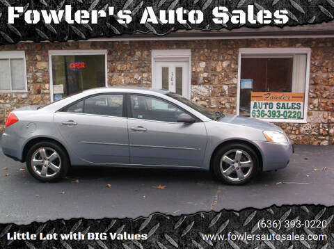2008 Pontiac G6 for sale at Fowler's Auto Sales in Pacific MO