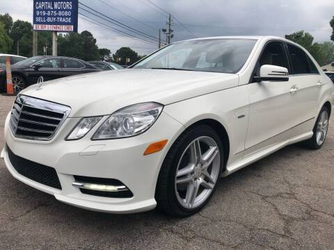 2012 Mercedes-Benz E-Class for sale at Capital Motors in Raleigh NC