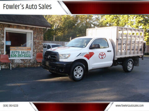 2010 Toyota Tundra for sale at Fowler's Auto Sales in Pacific MO