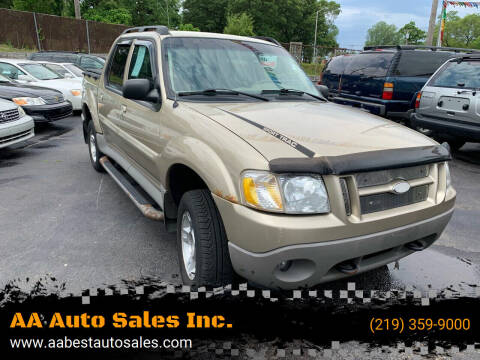 2003 Ford Explorer Sport Trac for sale at AA Auto Sales Inc. in Gary IN