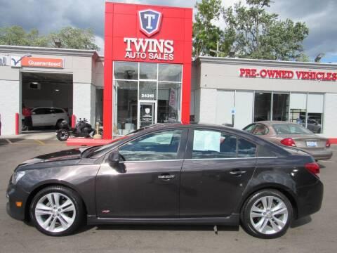 2015 Chevrolet Cruze for sale at Twins Auto Sales Inc in Detroit MI