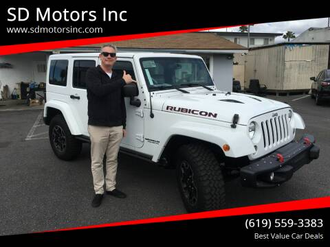 2016 Jeep Wrangler Unlimited for sale at SD Motors Inc in La Mesa CA