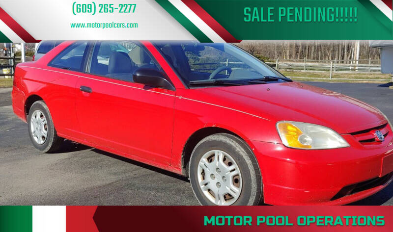 2001 Honda Civic for sale at Motor Pool Operations in Hainesport NJ