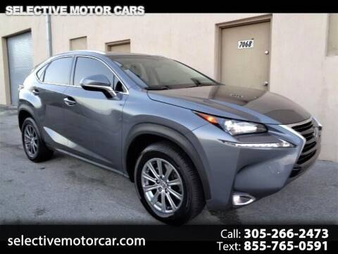 2016 Lexus NX 200t for sale at Selective Motor Cars in Miami FL