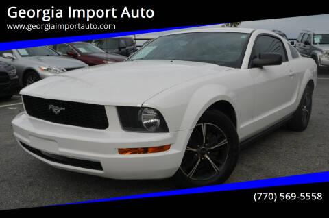 2007 Ford Mustang for sale at Georgia Import Auto in Alpharetta GA