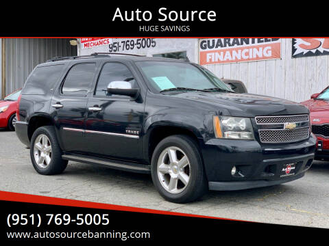 2011 Chevrolet Tahoe for sale at Auto Source in Banning CA