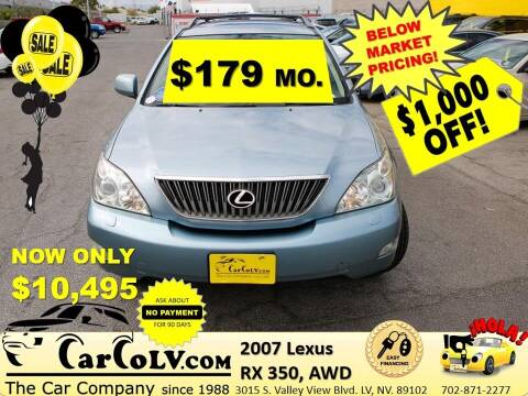 2007 Lexus RX 350 for sale at The Car Company in Las Vegas NV