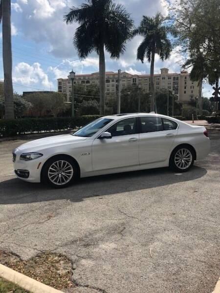 2015 BMW 5 Series for sale at LAND & SEA BROKERS INC in Deerfield FL