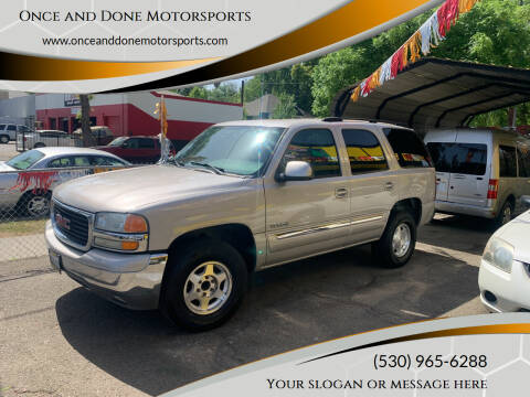2004 GMC Yukon for sale at Once and Done Motorsports in Chico CA