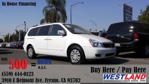 2012 Kia Sedona for sale at Westland Auto Sales in Fresno CA