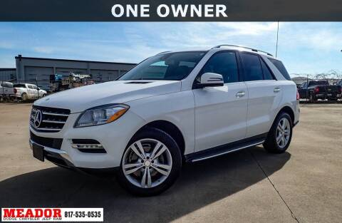 2014 Mercedes-Benz M-Class for sale at Meador Dodge Chrysler Jeep RAM in Fort Worth TX