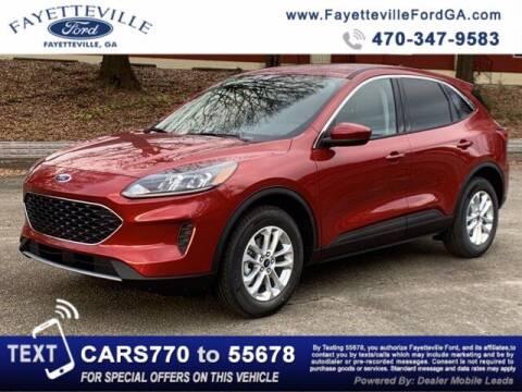 2020 Ford Escape for sale at FAYETTEVILLEFORDFLEETSALES.COM in Fayetteville GA