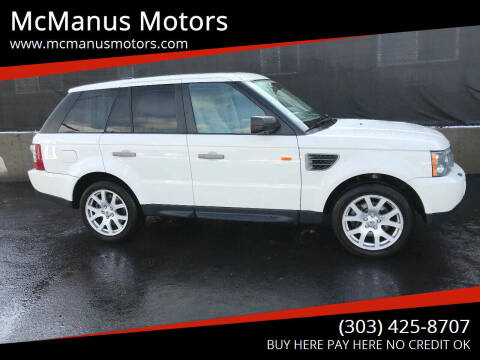 2008 Land Rover Range Rover Sport for sale at McManus Motors in Wheat Ridge CO