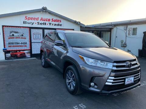 2019 Toyota Highlander for sale at Speed Auto Sales in El Cajon CA