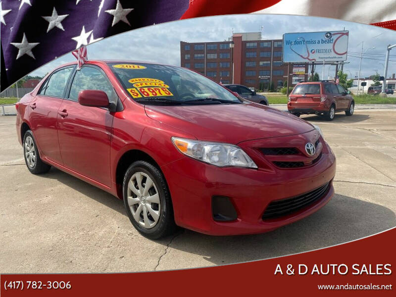 2011 Toyota Corolla for sale at A & D Auto Sales in Joplin MO