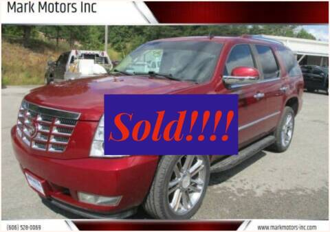 2010 Cadillac Escalade for sale at Mark Motors Inc in Gray KY