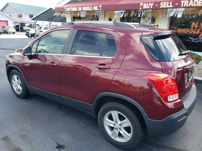 2016 Chevrolet Trax for sale at ANYTHING ON WHEELS INC in Deland FL