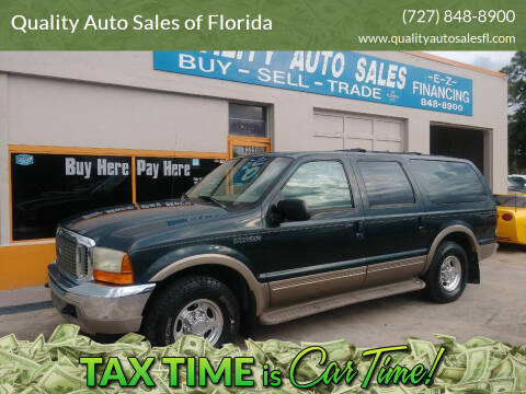 2000 Ford Excursion for sale at QUALITY AUTO SALES OF FLORIDA in New Port Richey FL