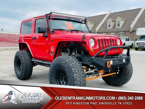 2013 Jeep Wrangler for sale at Ole Ben Franklin Motors Clinton Highway in Knoxville TN