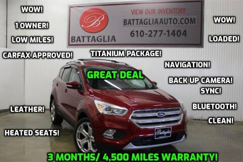 2019 Ford Escape for sale at Battaglia Auto Sales in Plymouth Meeting PA